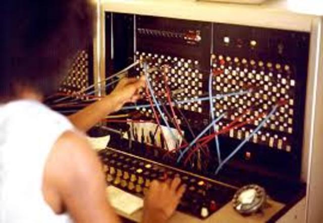 First manual switchboard debuts in Boston