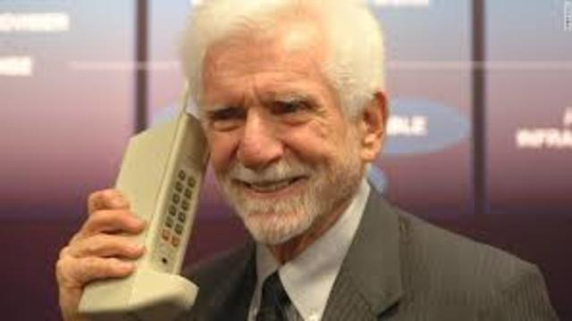 The first handheld mobile phone