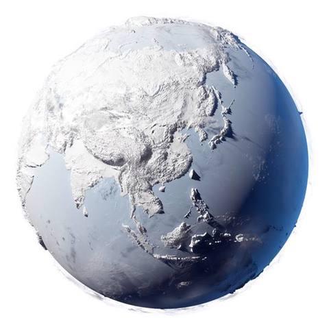 Todo es hielo.