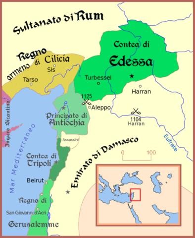 Conflicto Militar y captura del Condado de Edesa