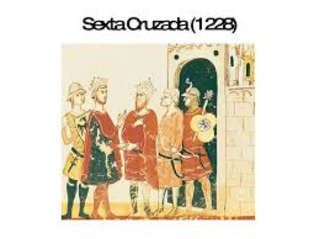 Cruzada VI emprendida por Federico II de Hohenstaufen del Sacro Imperio Romano Germano