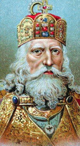 Muerte de Carlomagno Rey de los Francos y emperador de Occidente