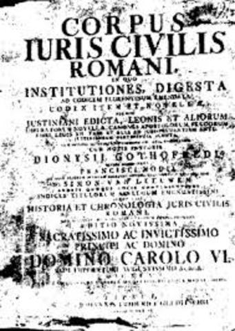 Inicia la publicación del Corpus Iuris Civilis