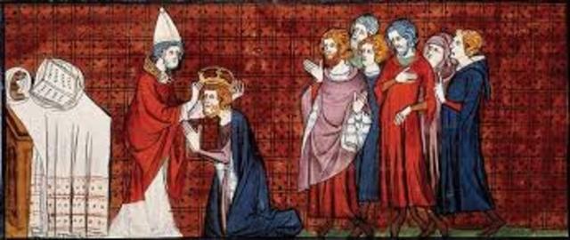 Carlomagno es Coronado emperador del Sacro Imperio Romano