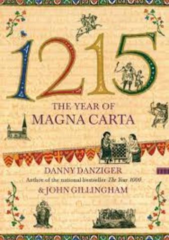 Elaboracion de la Carta Magna  en Inglaterra por el Rey Juan sin tierra