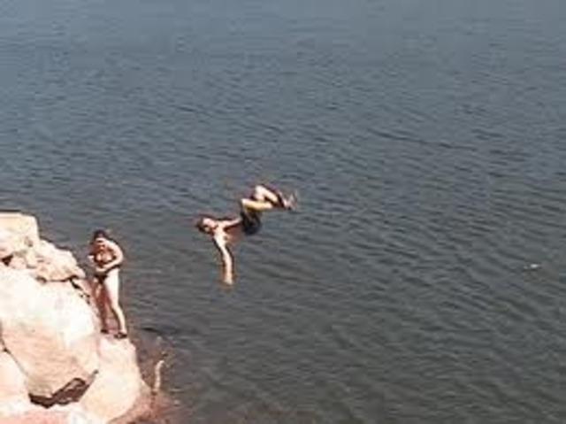 1998 balcony flip jump.