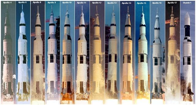 Primer vuelo del cohete Saturno V.