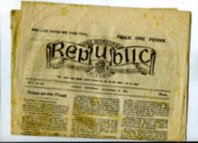 """Bhunaigh sé an nuachtán """"The Worker's Republic"""""""