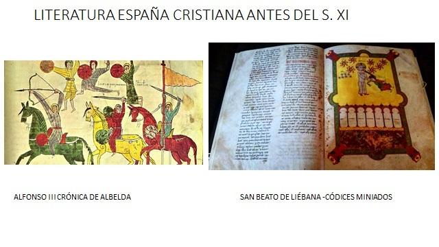 LITERATURA DE LA ESPAÑA CRISTIANA ANTES DEL S XI