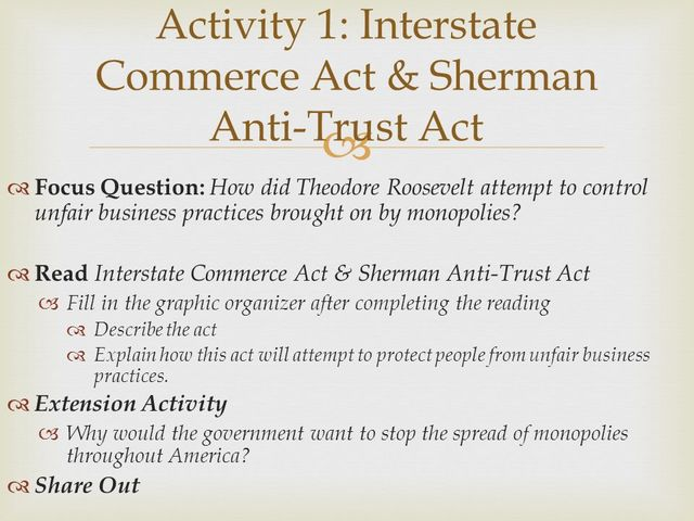 Sherman Commerce Act