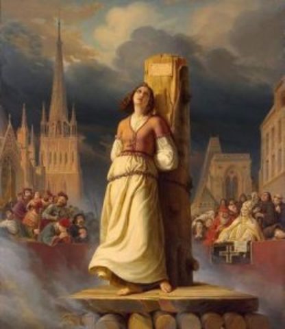 Juana de arco muere en la hoguera