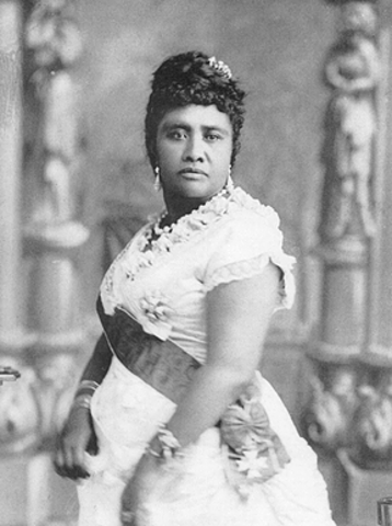 Queen Liliuokalani Overthrown by American Planters and U.S.