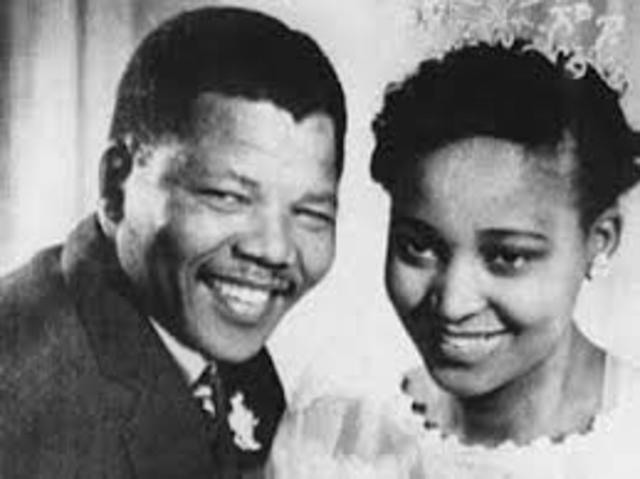 Nelson Mandela married his first wife