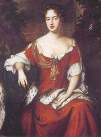 Queen Anne Ascends the English Throne