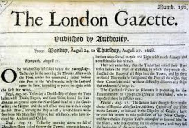 Newspaper in London