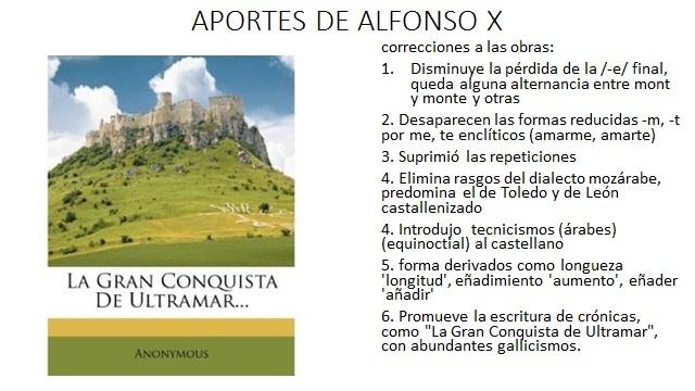 APORTES DE ALFONSO X