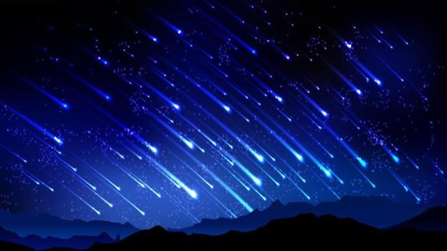 La primera lluvia de meteoritos