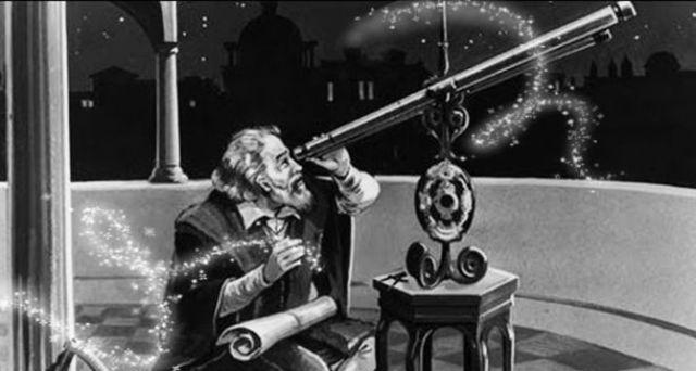Galileo: usa el telescopio para observar las montañas de la luna