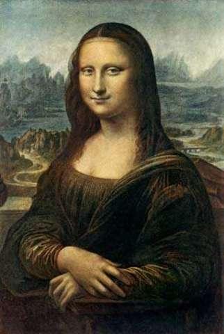 Leonardo da Vinci paints the Mona Lisa
