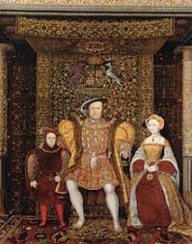 With the Supremecy Act, Henry VIII proclaims himself head of Church of England