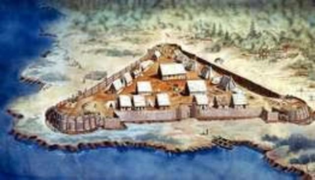 First permanent English settlement in North America is established at Jamestown,Virginia