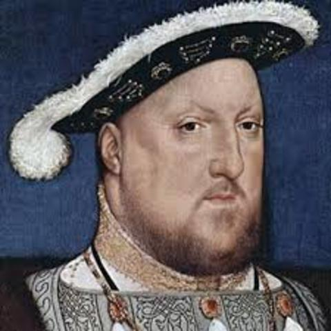 With the supremacy act, Henry VIII proclaims himself head of Church of England