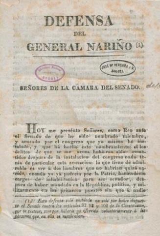 Declaración de los Derechos Humanos (Antonio Nariño)
