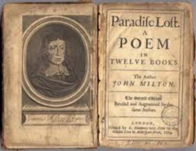 John Milton begins Paradise Lost