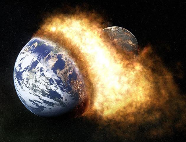 El Choque entre dos planetas