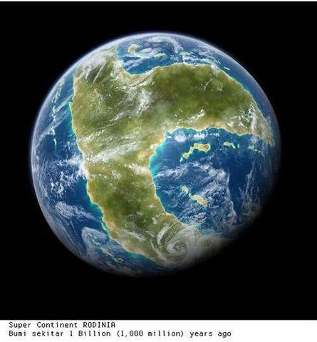 La creación del primer continente