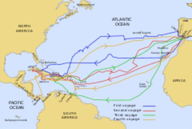 Chrisropher Columbus reaches the Americas