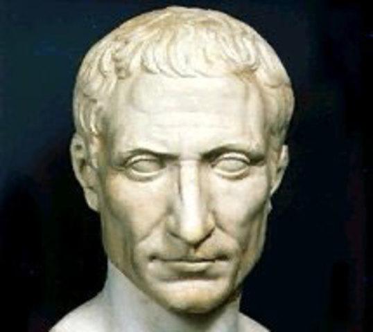 Cesare eletto console.