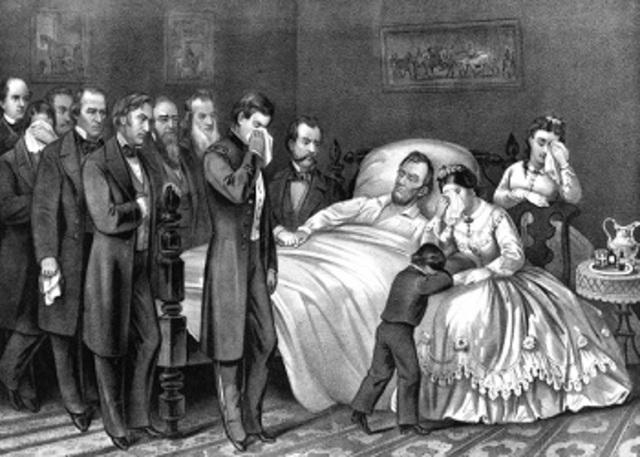 8. President Abraham Lincoln Passes Away