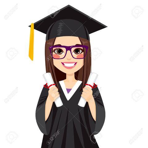 Me graduó de la universidad