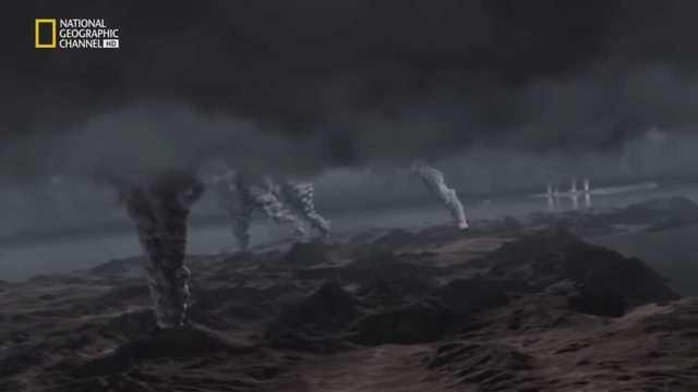 Gran actividad de volcanes