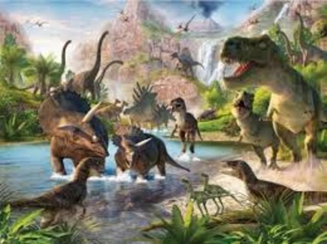 Apariccion dinosaurios