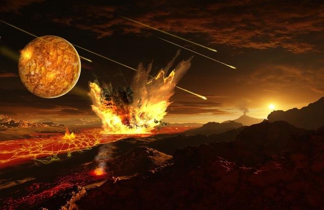 Primera lluvia de meteoritos