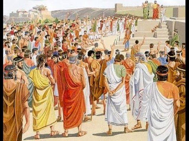 Begin van de democratie in Athene