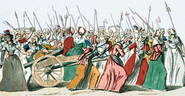 The wives march of Versailles