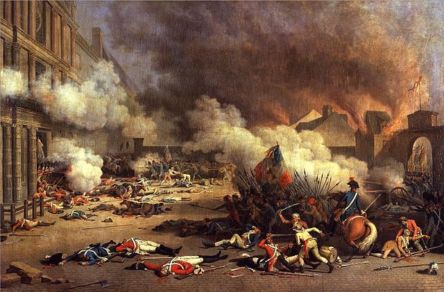 Insurrection and end of Louis XVI's power.