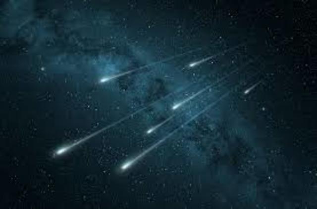 1° lluvia de meteoritos