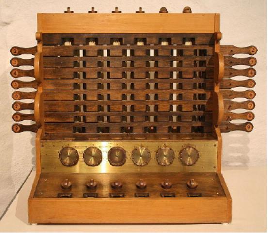 1600 -1623: Invenção das calculadoras.
