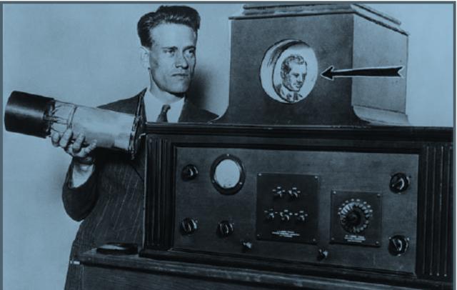 1833: Paul Nipkow cria o conceito de televisão.