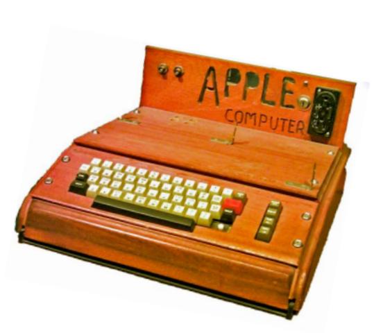 1976: Lançado o Apple I.