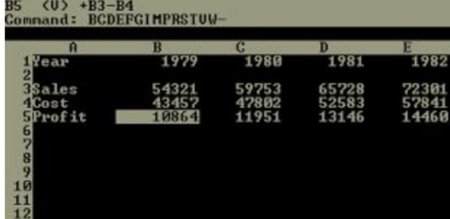 1978: A VisiCalc dá início à disseminação das folhas de cálculo (planilhas eletrônicas).