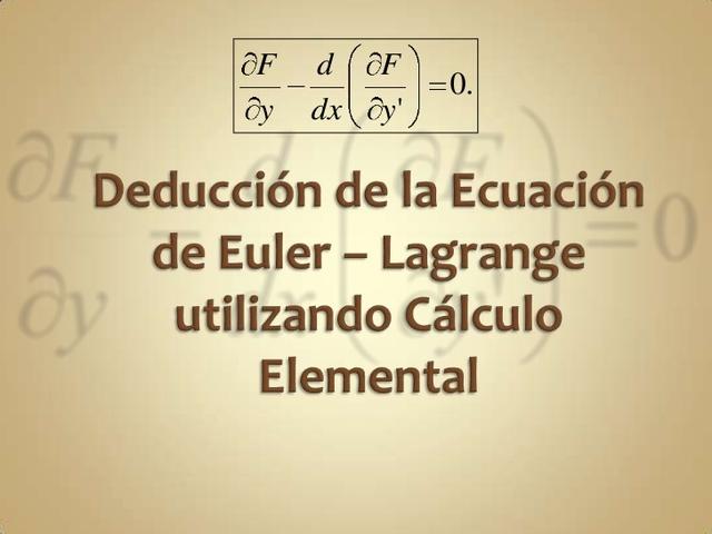 Lagrage obtiene una ecauación diferencia general del movimiento.