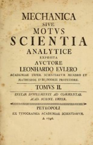Euler publica su primer libro.
