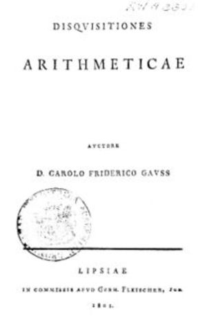 Gauss tiene una publicación.