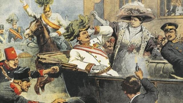 The Assassination on Austria's archduke Franz Ferdinand starts WWI