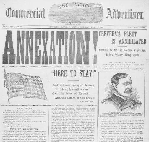 Hawaii is annexed